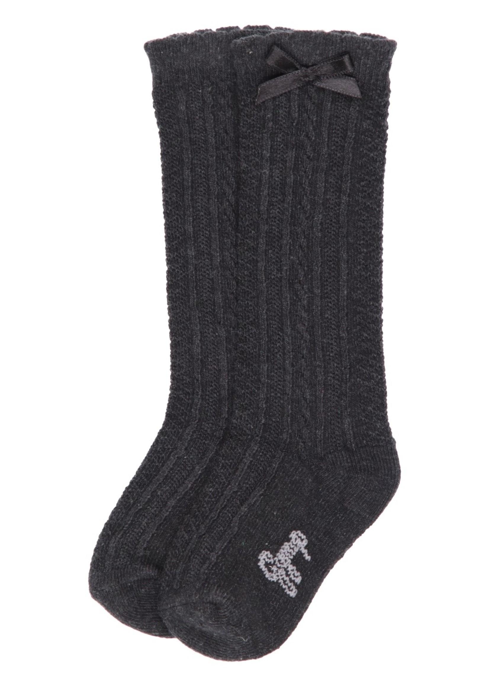Gymp Gymp Girls knee socks antraciet