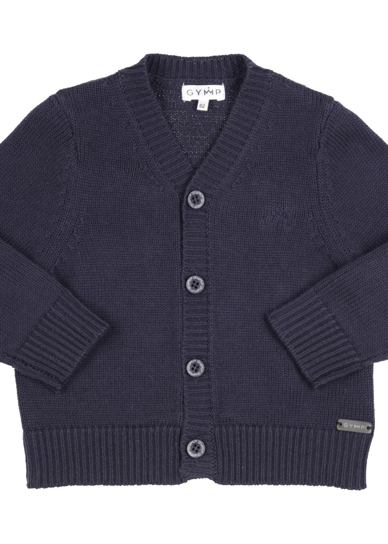 Gymp Gymp knitted cardigan marine