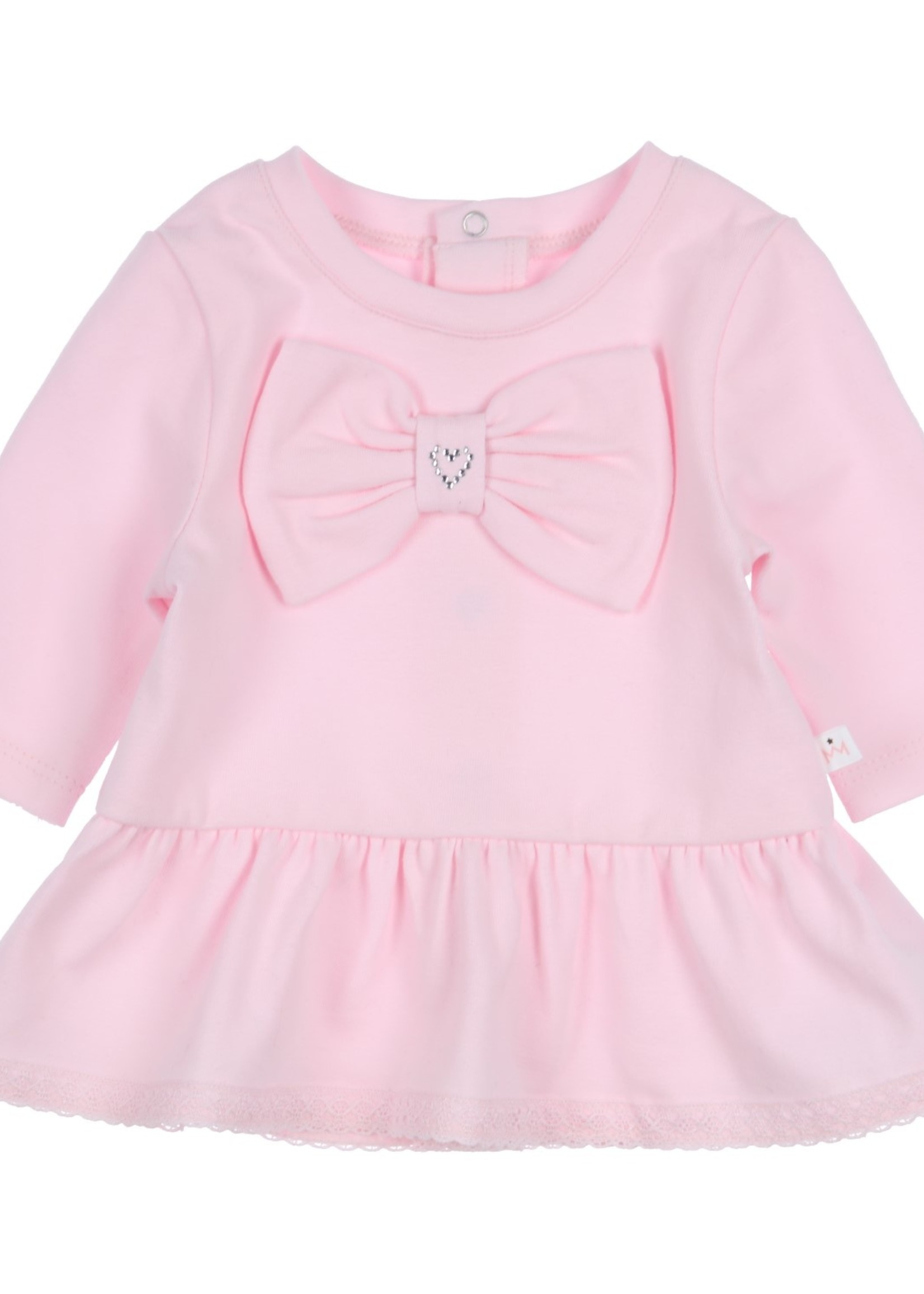 Gymp Gymp tunic with bow and strass heart lichtrose