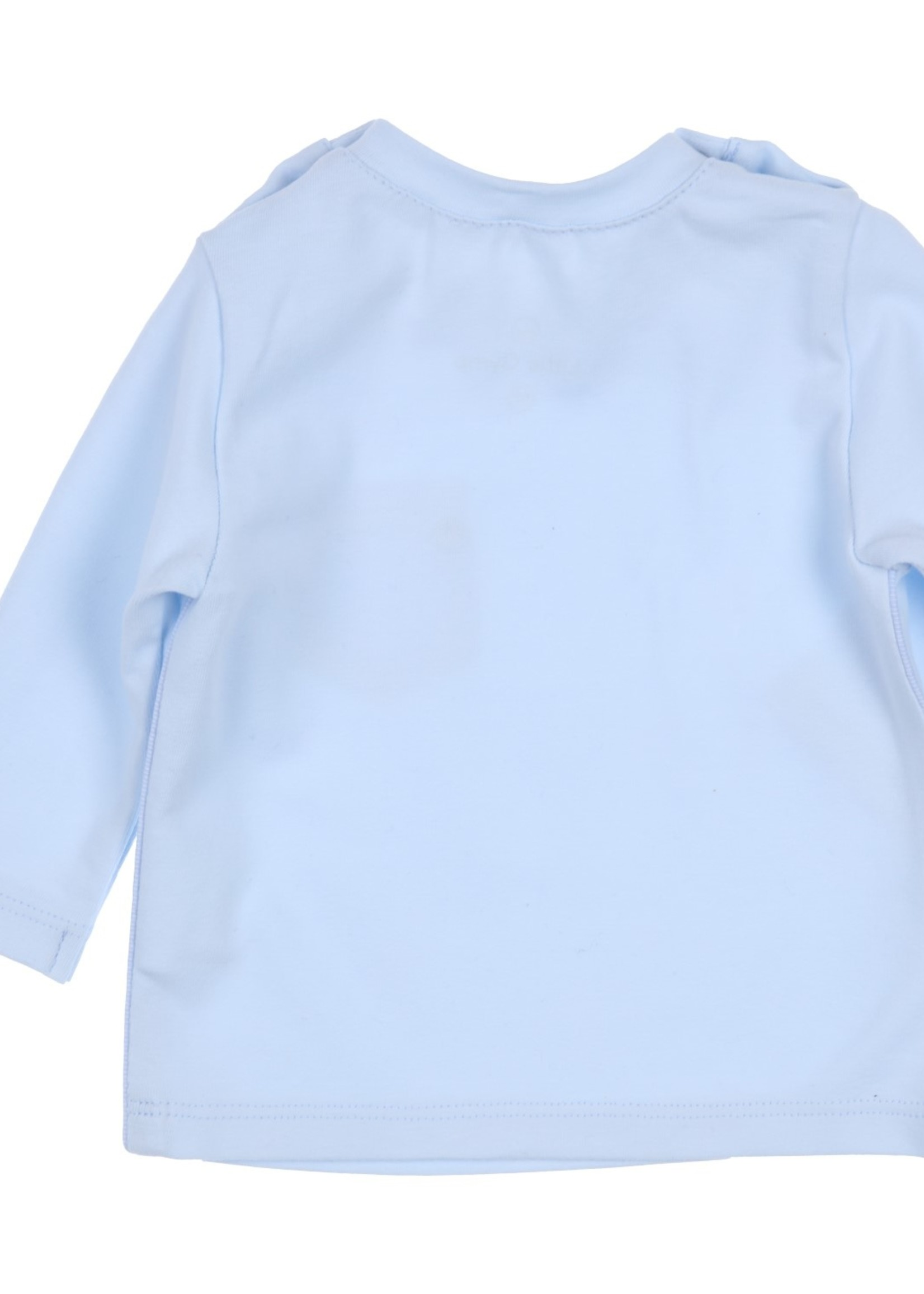 Gymp Gymp longsleeve passepoil and pocket lichtblauw