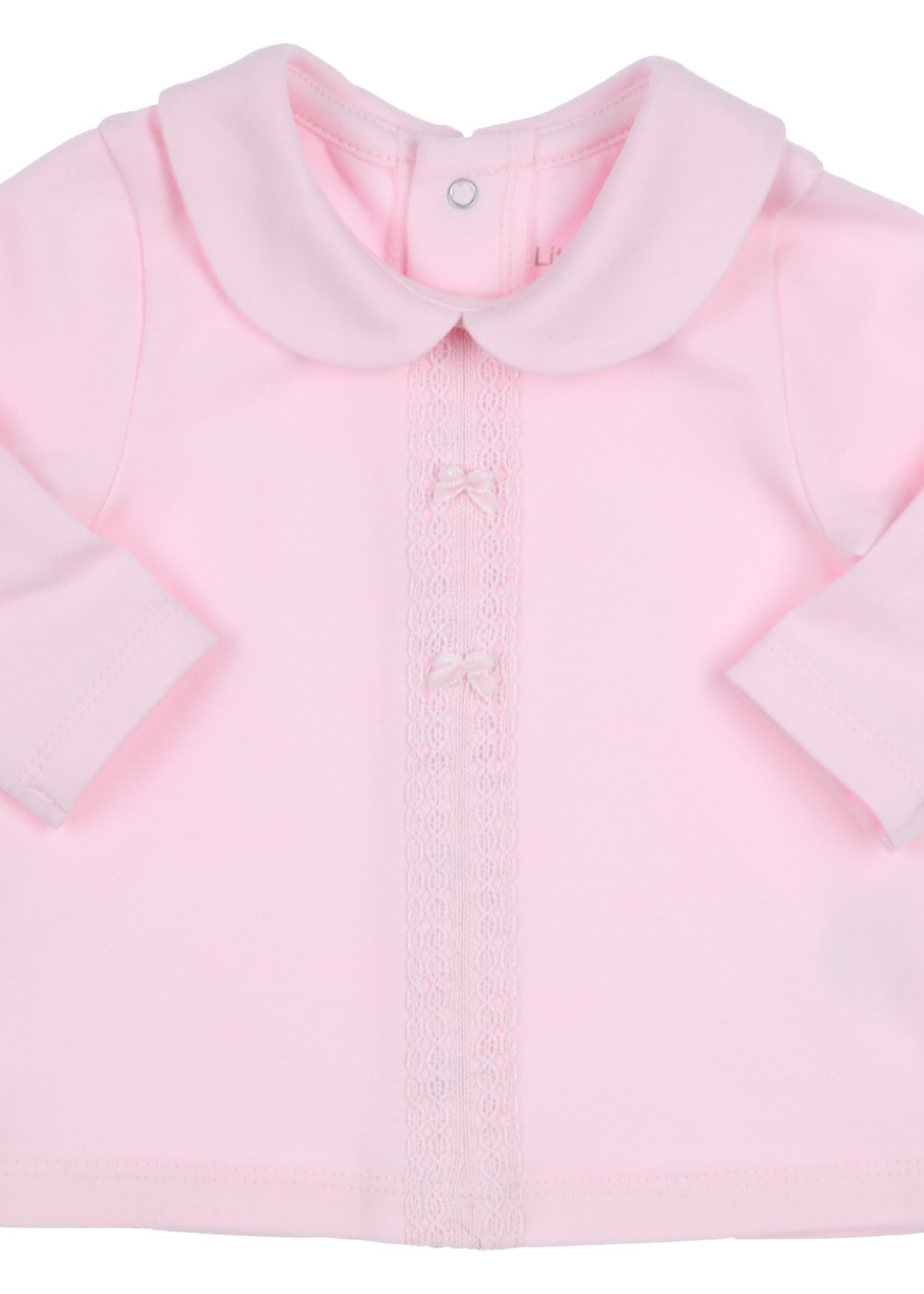 Gymp Gymp longsleeve lace ribbon and collar lichtrose