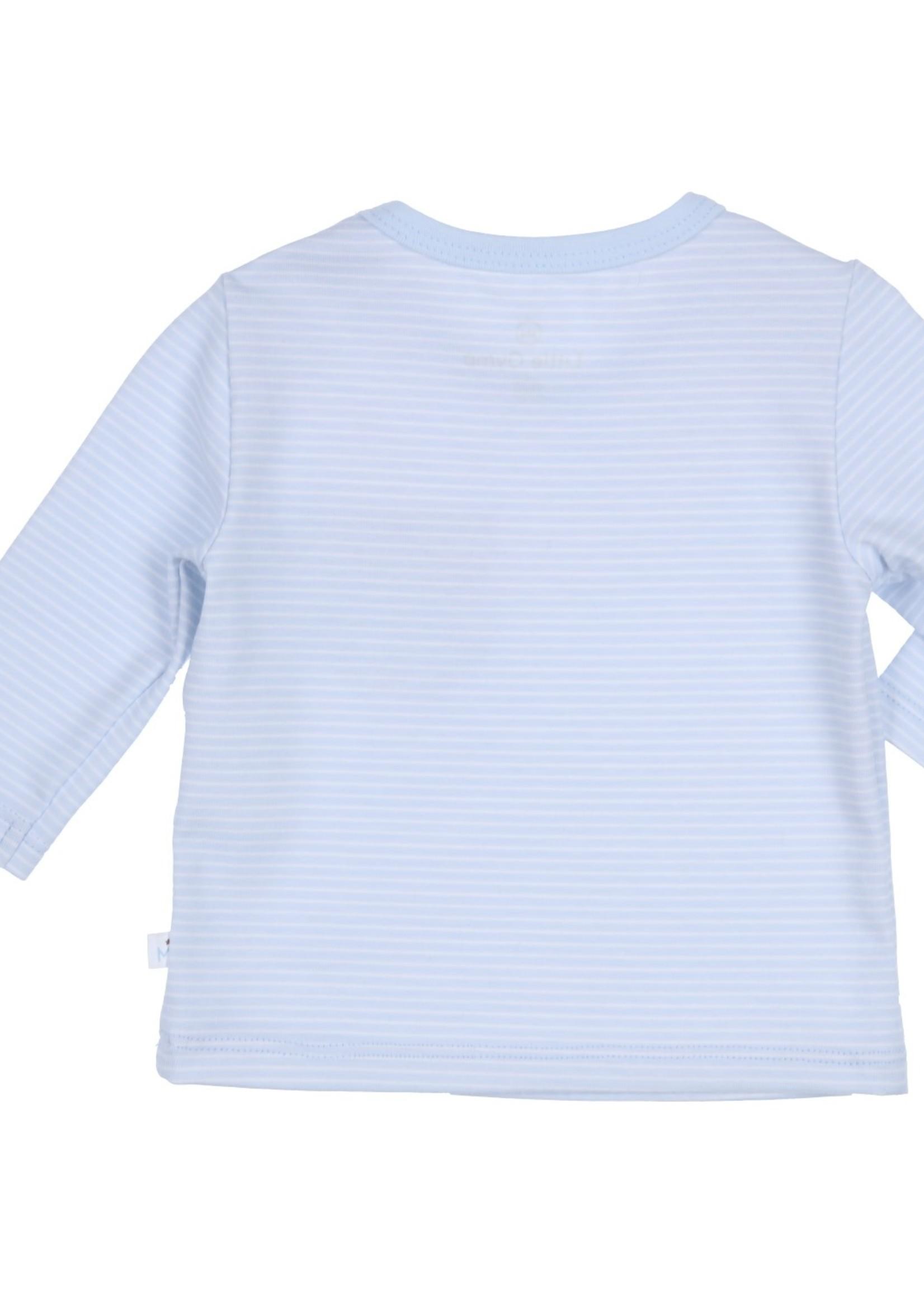 Gymp Gymp longsleeve pocket lichtblauw/wit