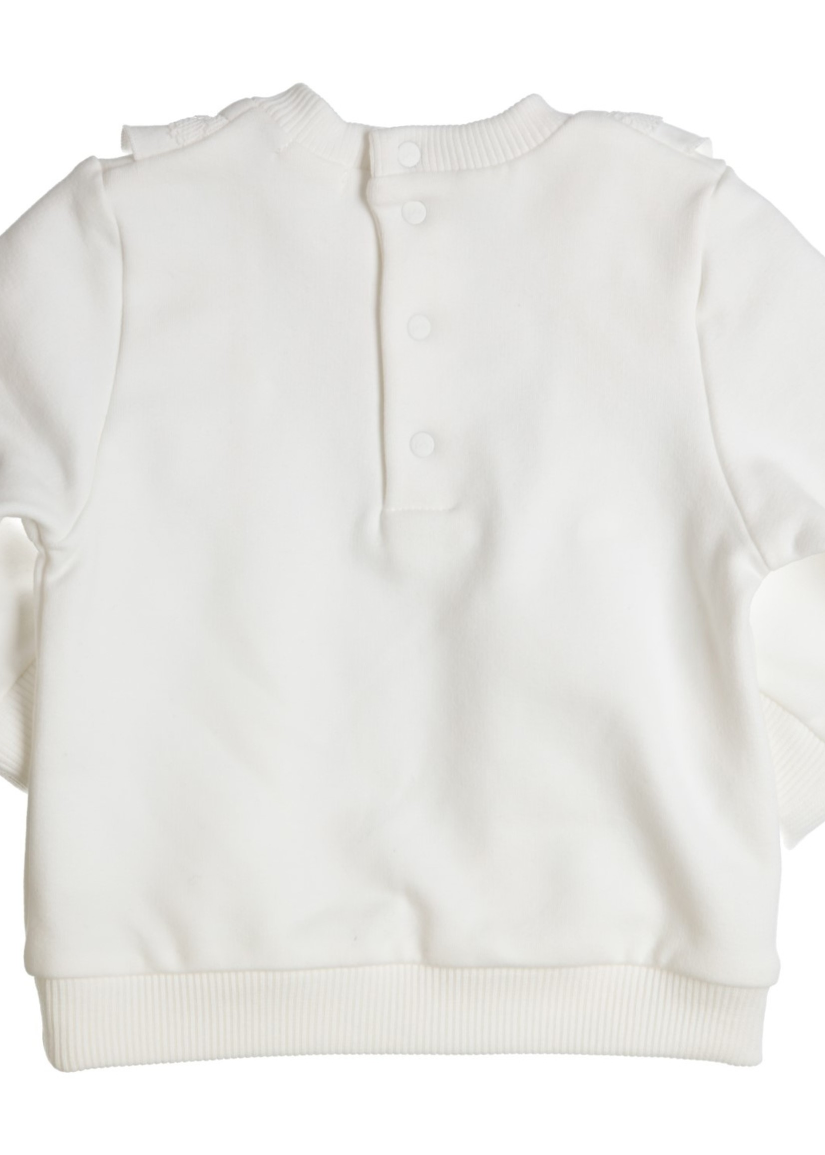 Gymp Gymp sweater flounces and lace off white
