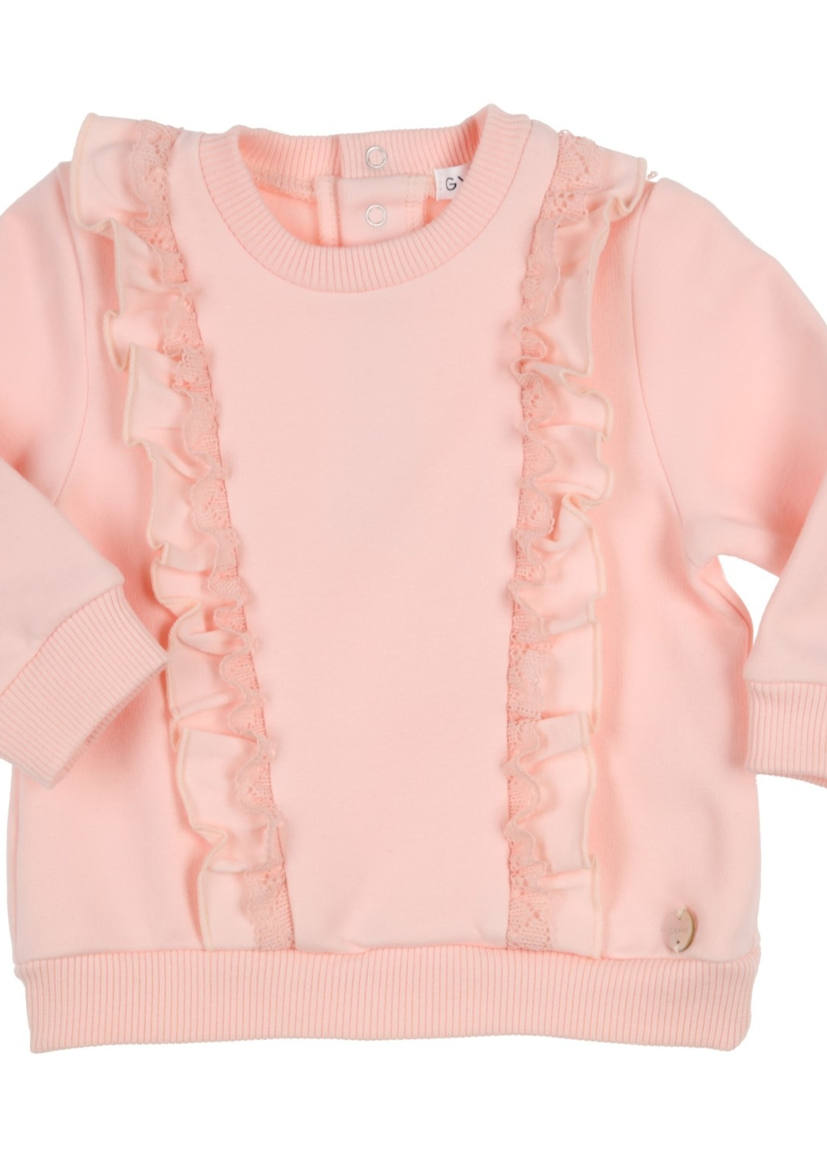 Gymp Gymp sweater flounces and lace vieux rose