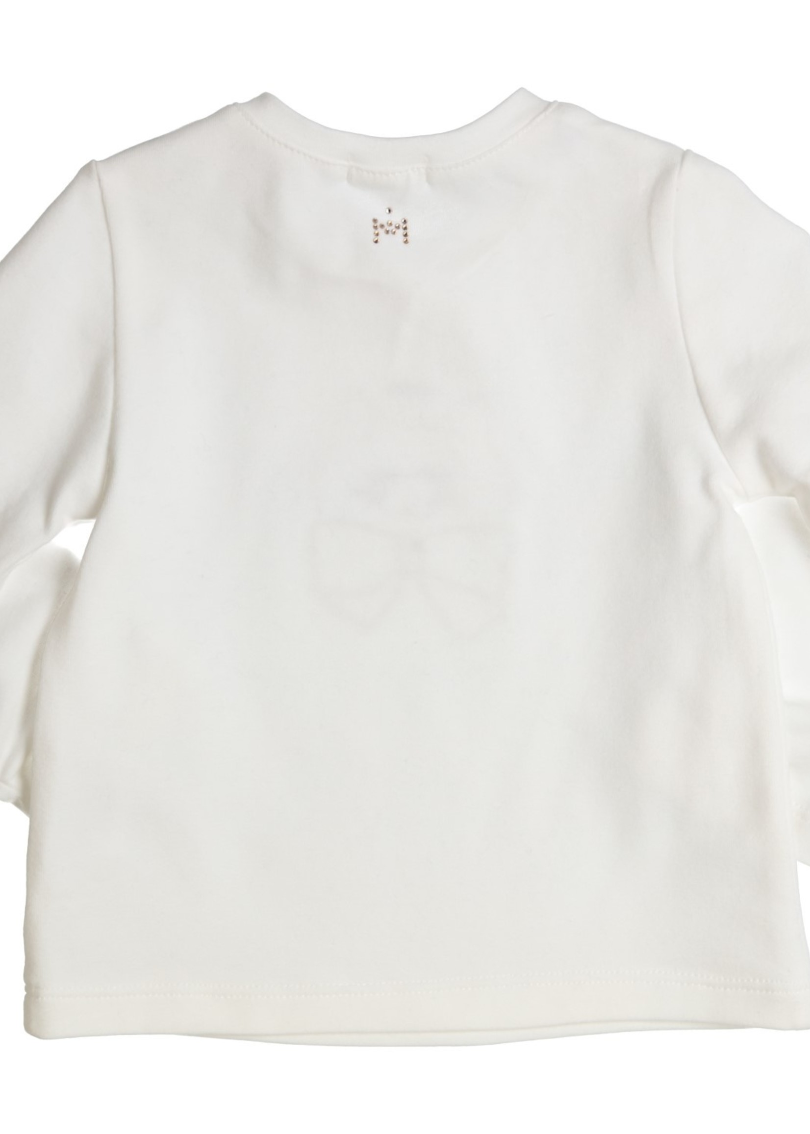Gymp Gymp longsleeve embroidery MEOW off white