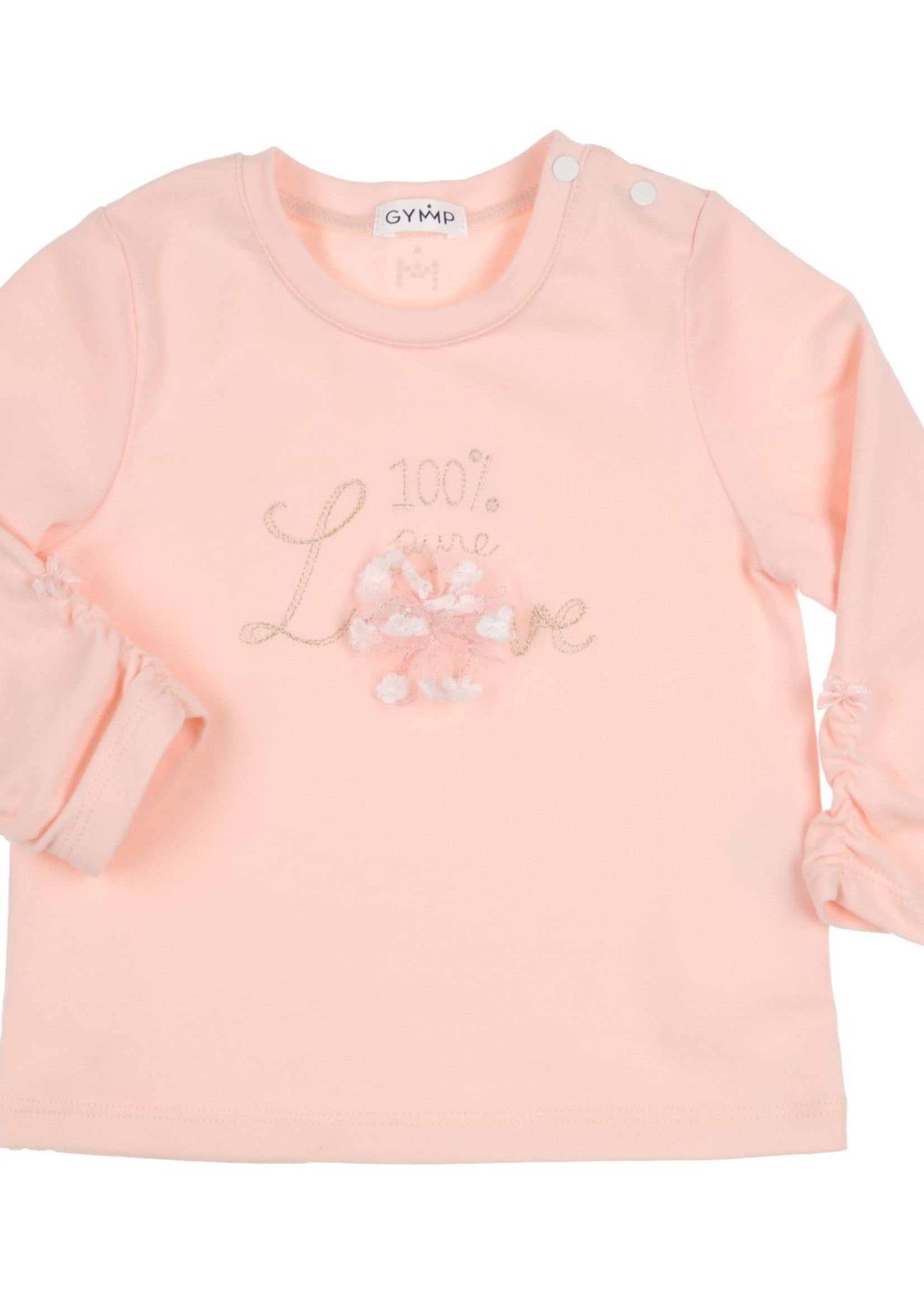 Gymp Gymp longsleeve 100% pure LOVE vieux rose
