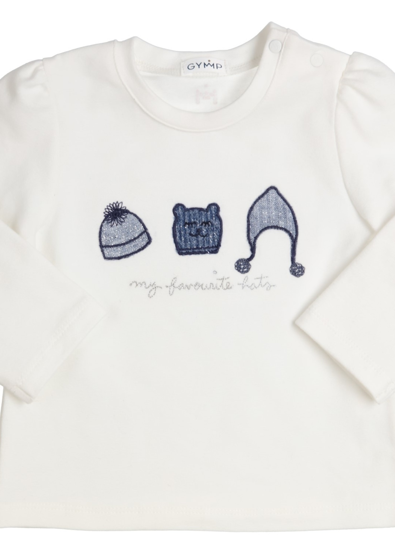 Gymp Gymp longsleeve embroidery HATS off white