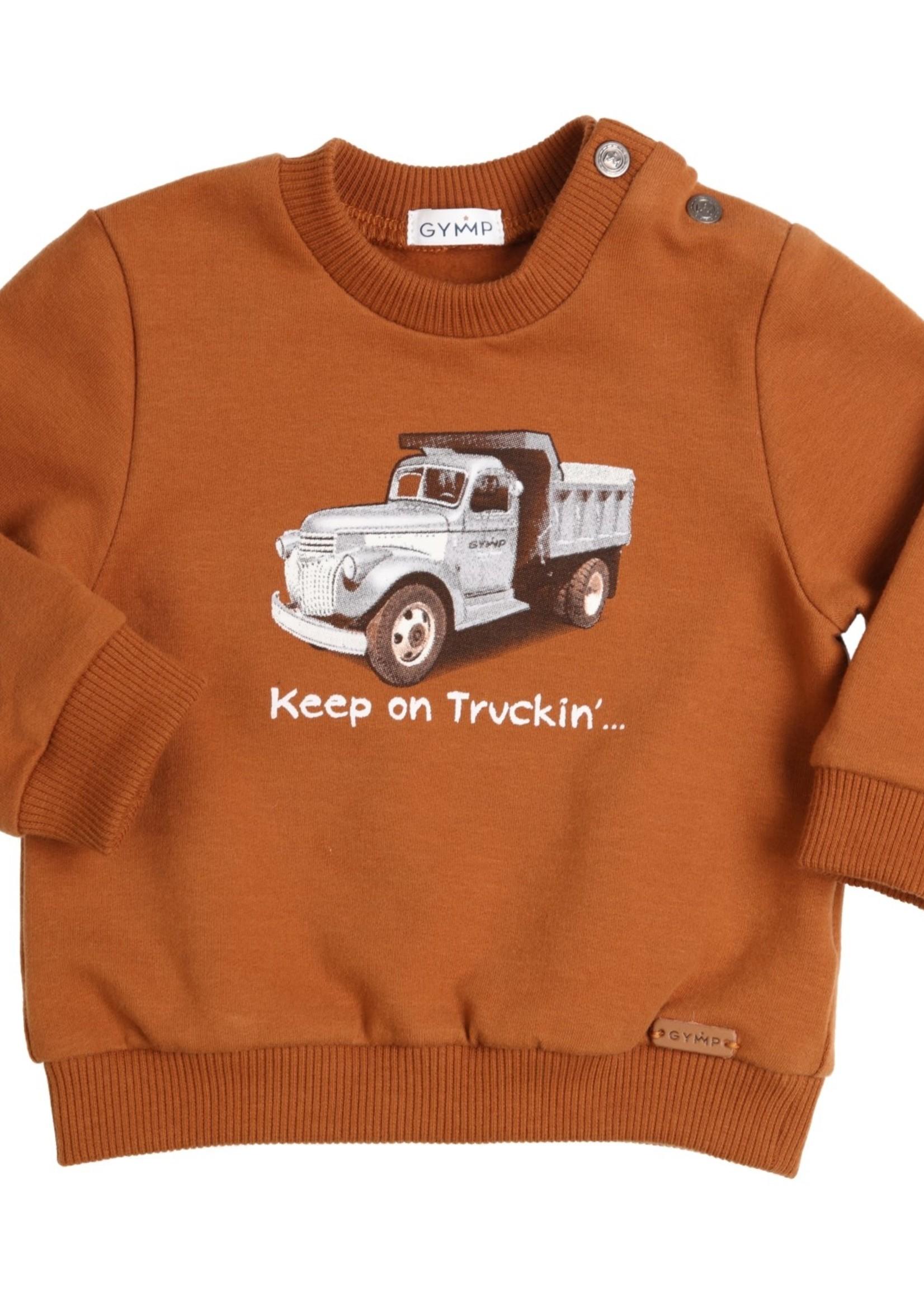 Gymp Gymp sweater TRUCK cognac