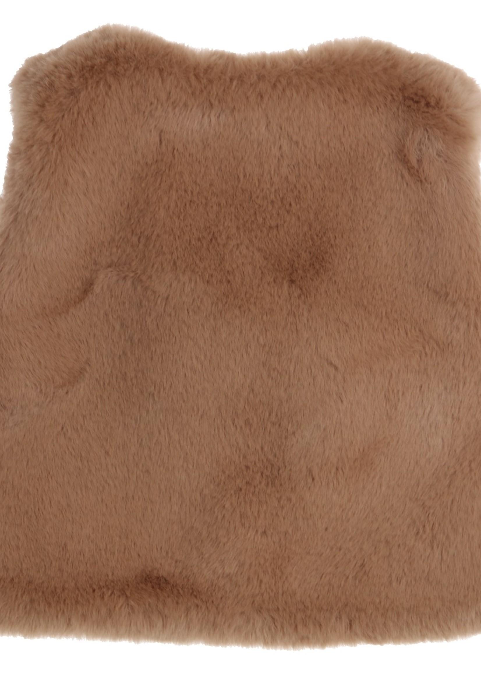 Gymp Gymp gilet (fake) fur camel