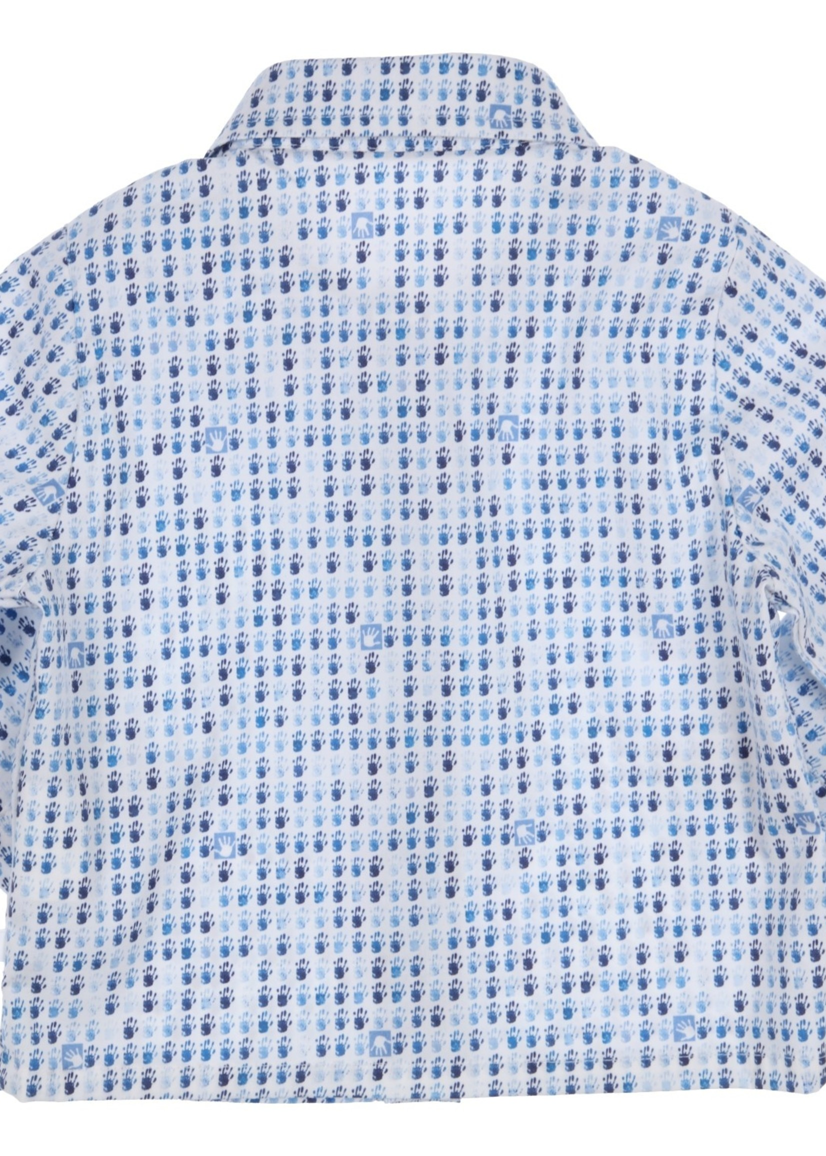 Gymp Gymp shirtblouse wit blauw