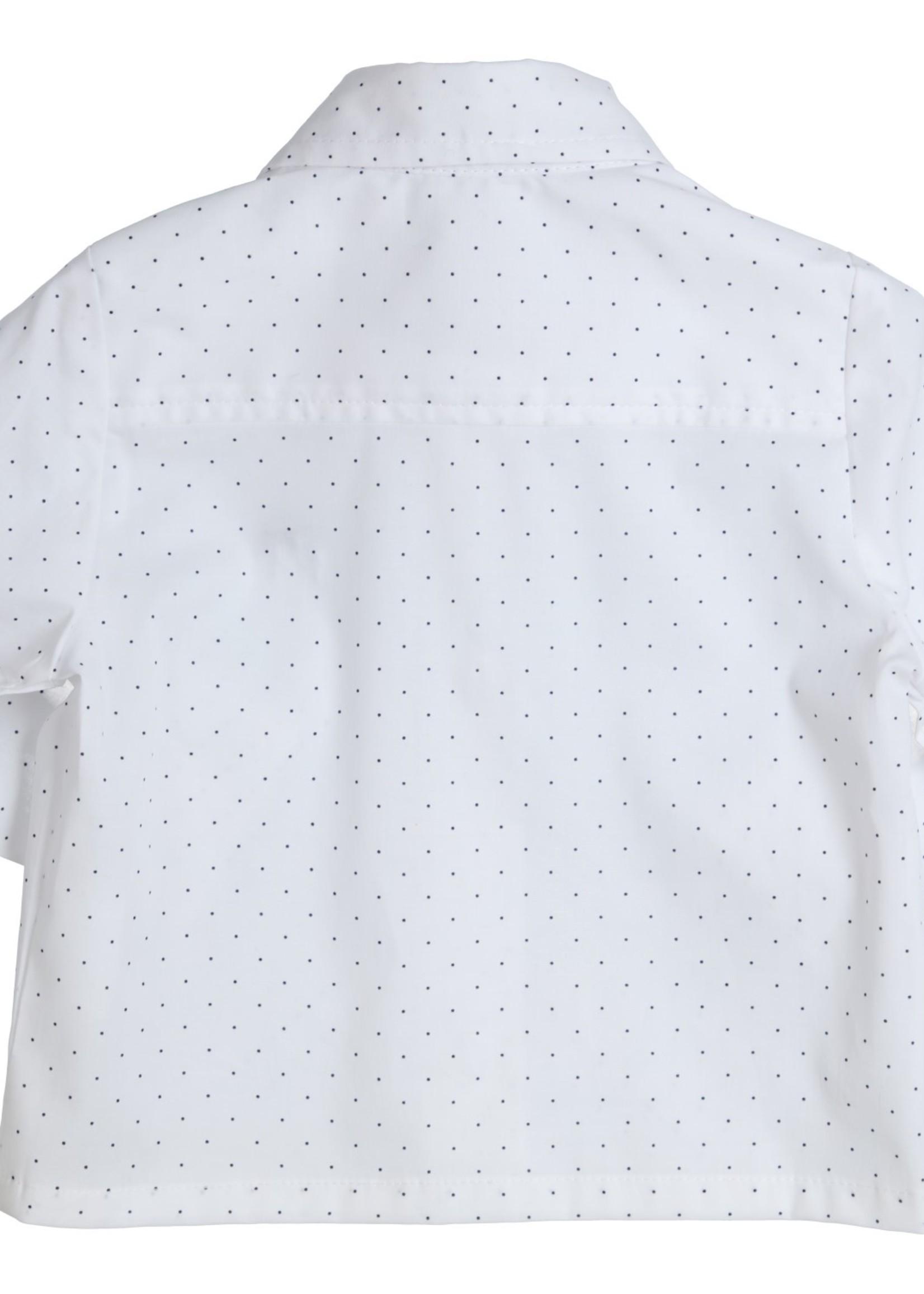 Gymp Gymp shirtblouse stippen wit marine