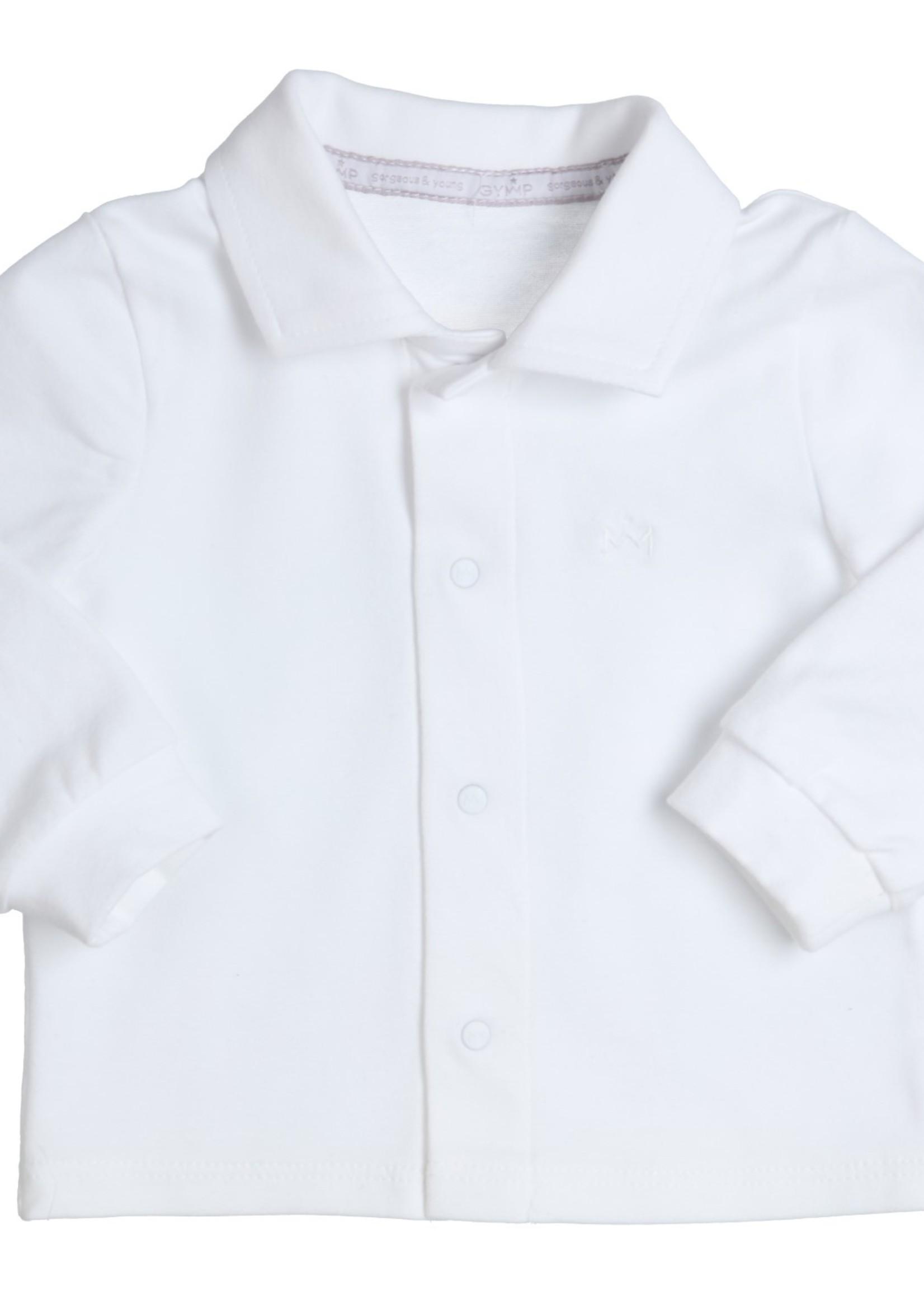 Gymp Gymp shirt met knoopjes wit