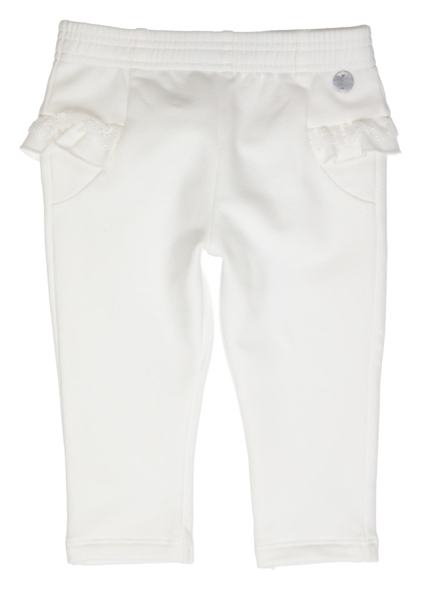 Gymp Gymp joggingpants flounces and lace off white