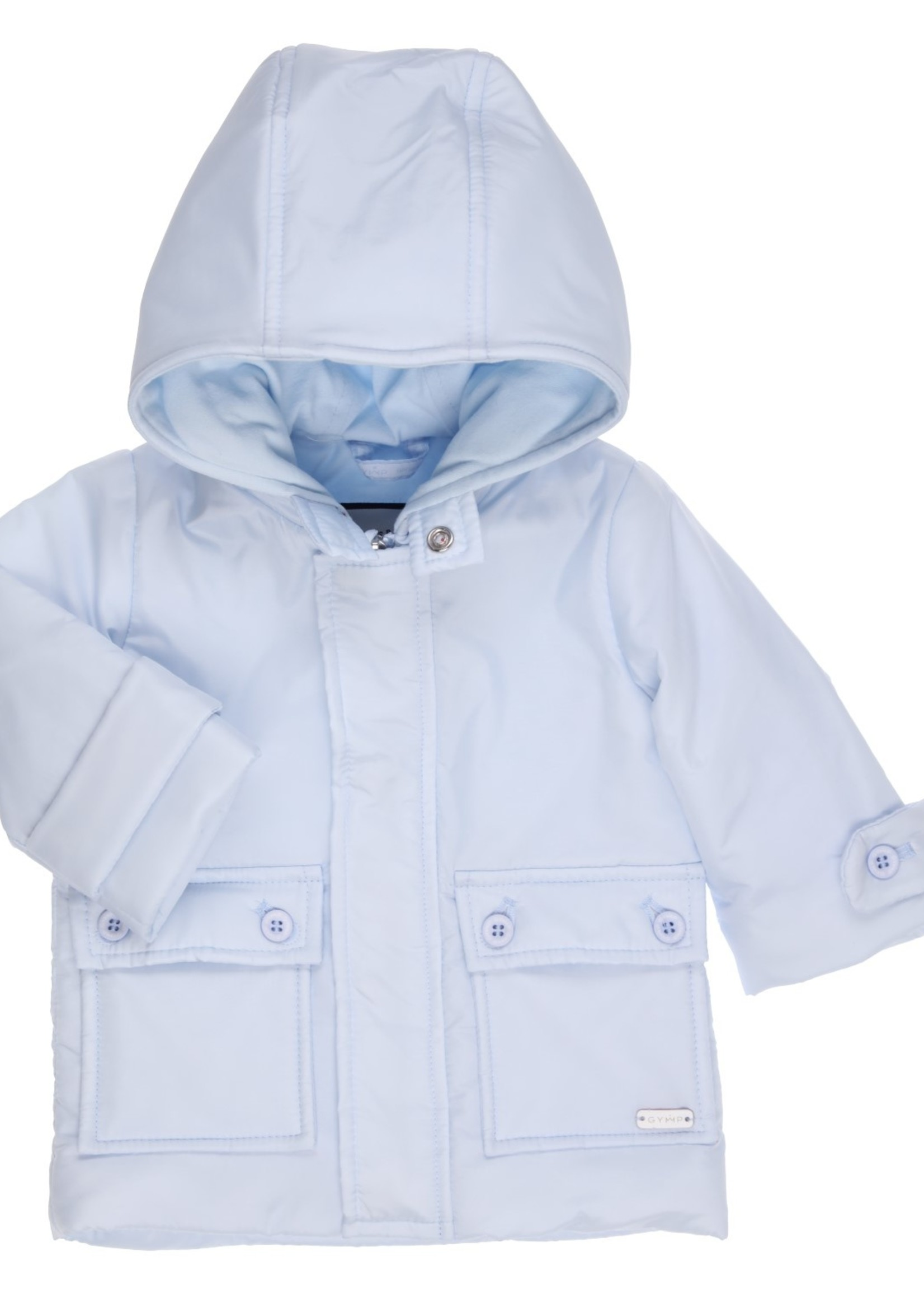 Gymp Gymp coat with hood lichtblauw