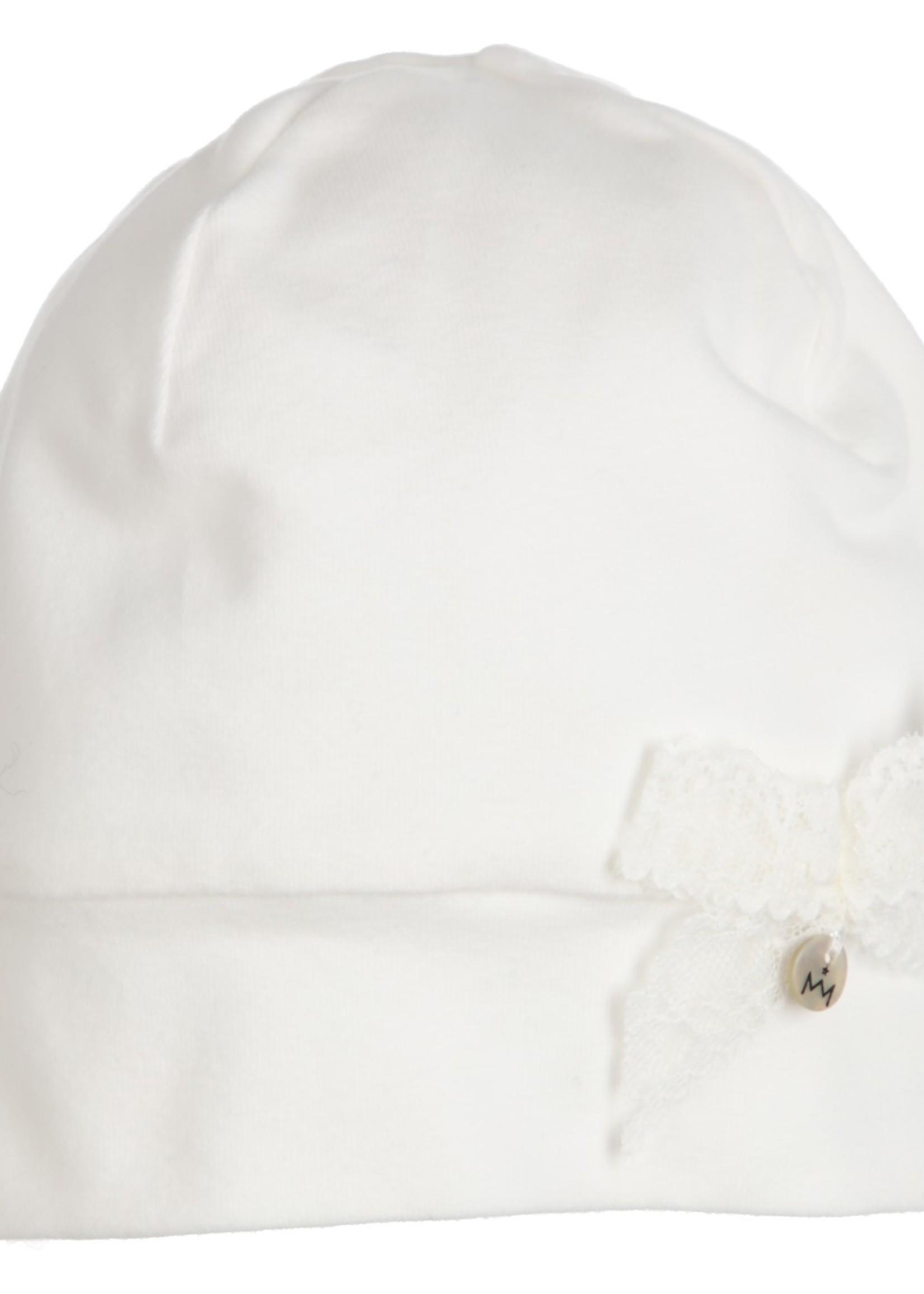 Gymp girls hat bow AERODOUX off white