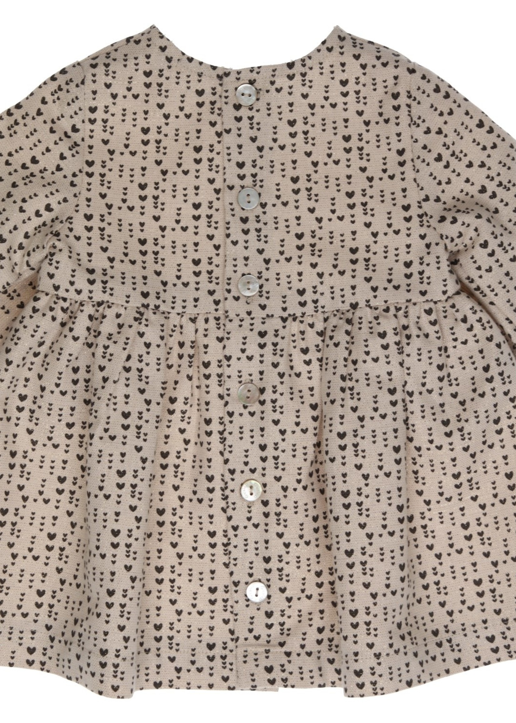 Gymp Gymp dress beige zwart