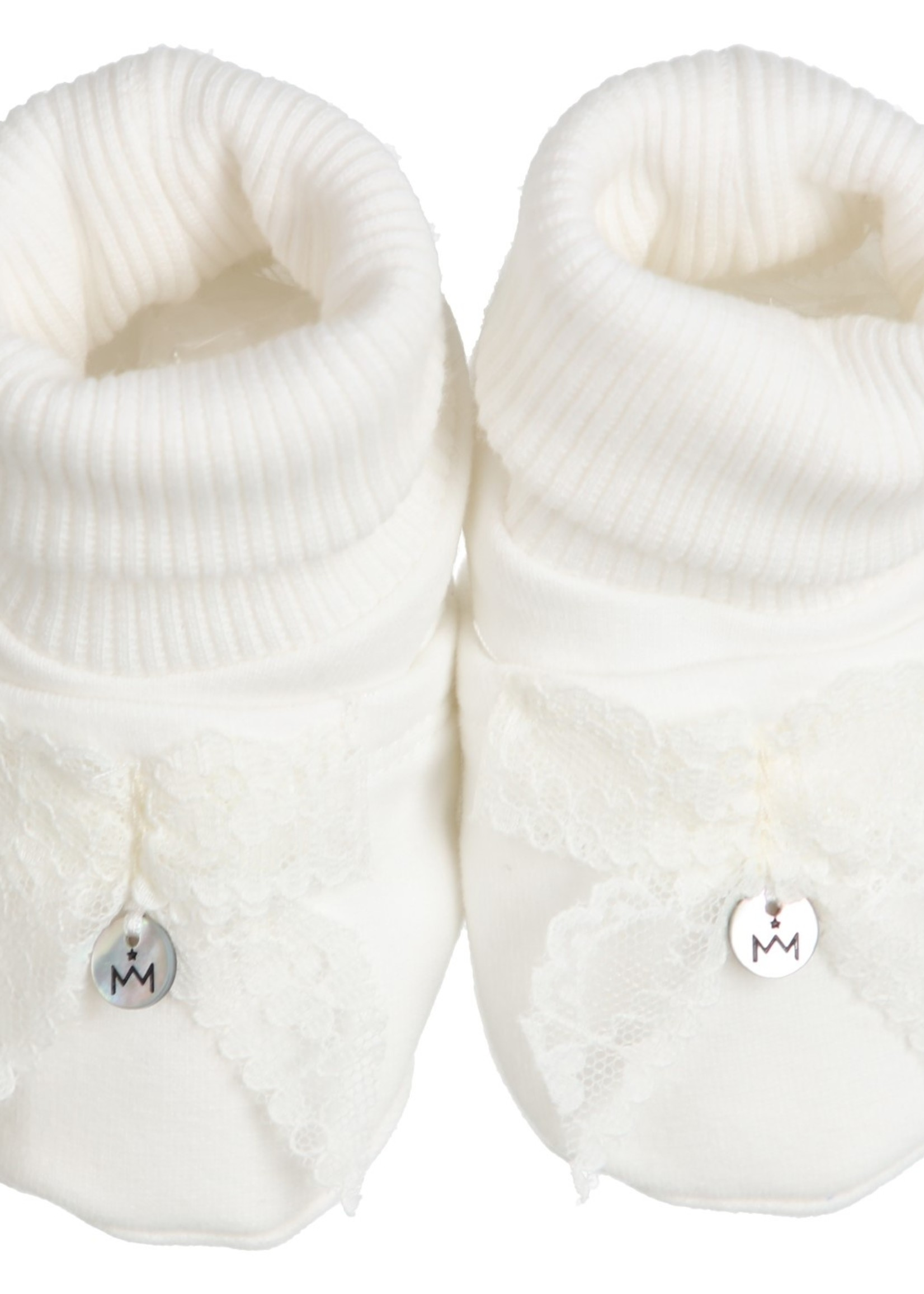 Gymp Gymp girls shoes lace bow CARBONDOUX offwhite