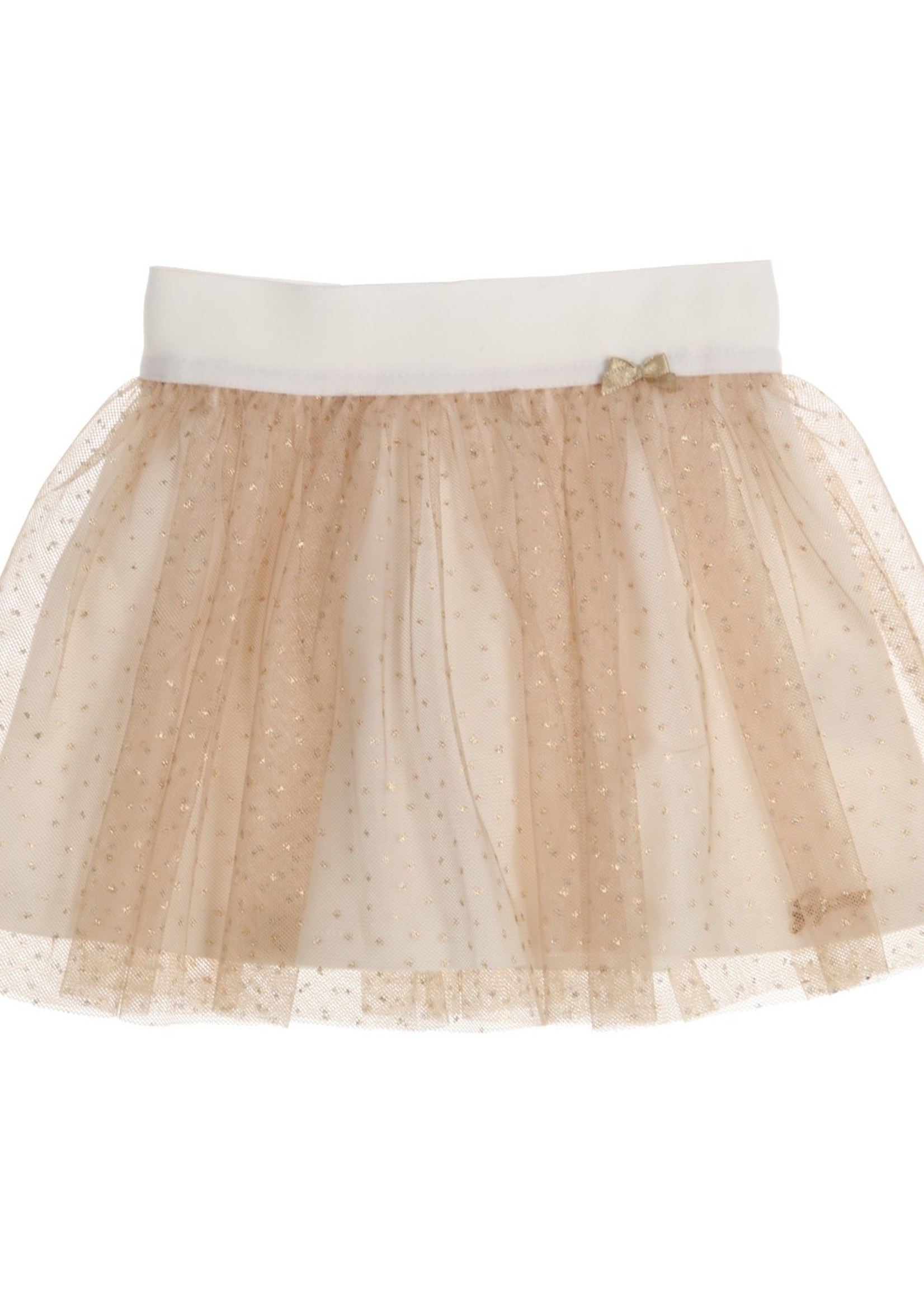 Gymp Gymp skirt off white goud