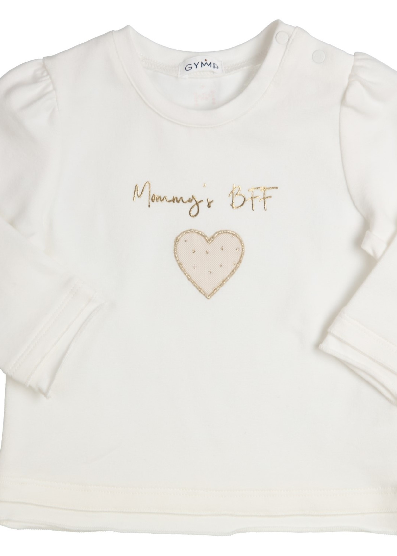 Gymp Gymp longsleeve MOMMY´S BFF off white goud