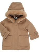 Gymp Gymp coat with hood and (fake) fur camel