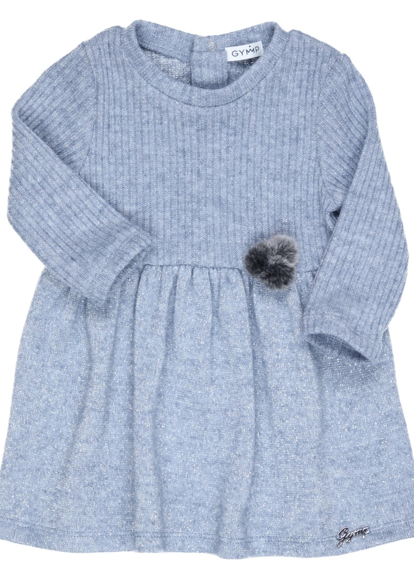 Gymp Gymp combi dress blauw