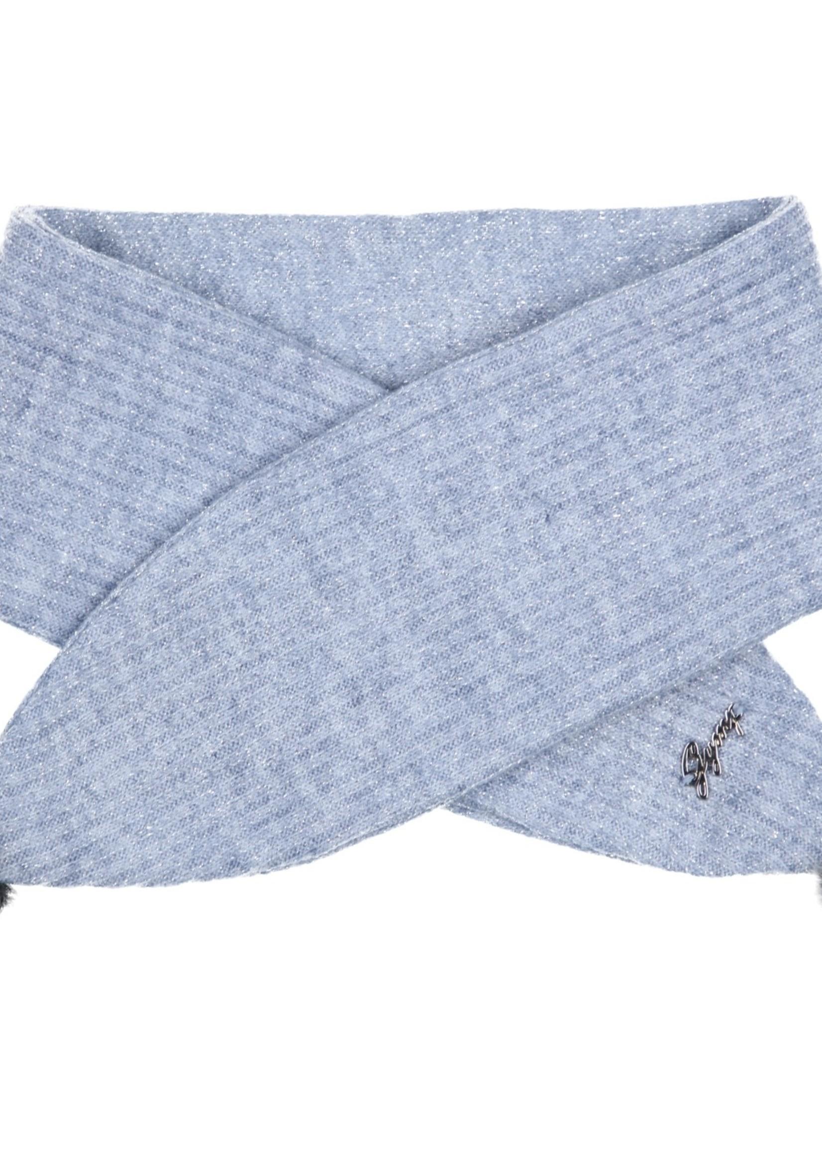 Gymp Gymp girls shawl CECILE blauw
