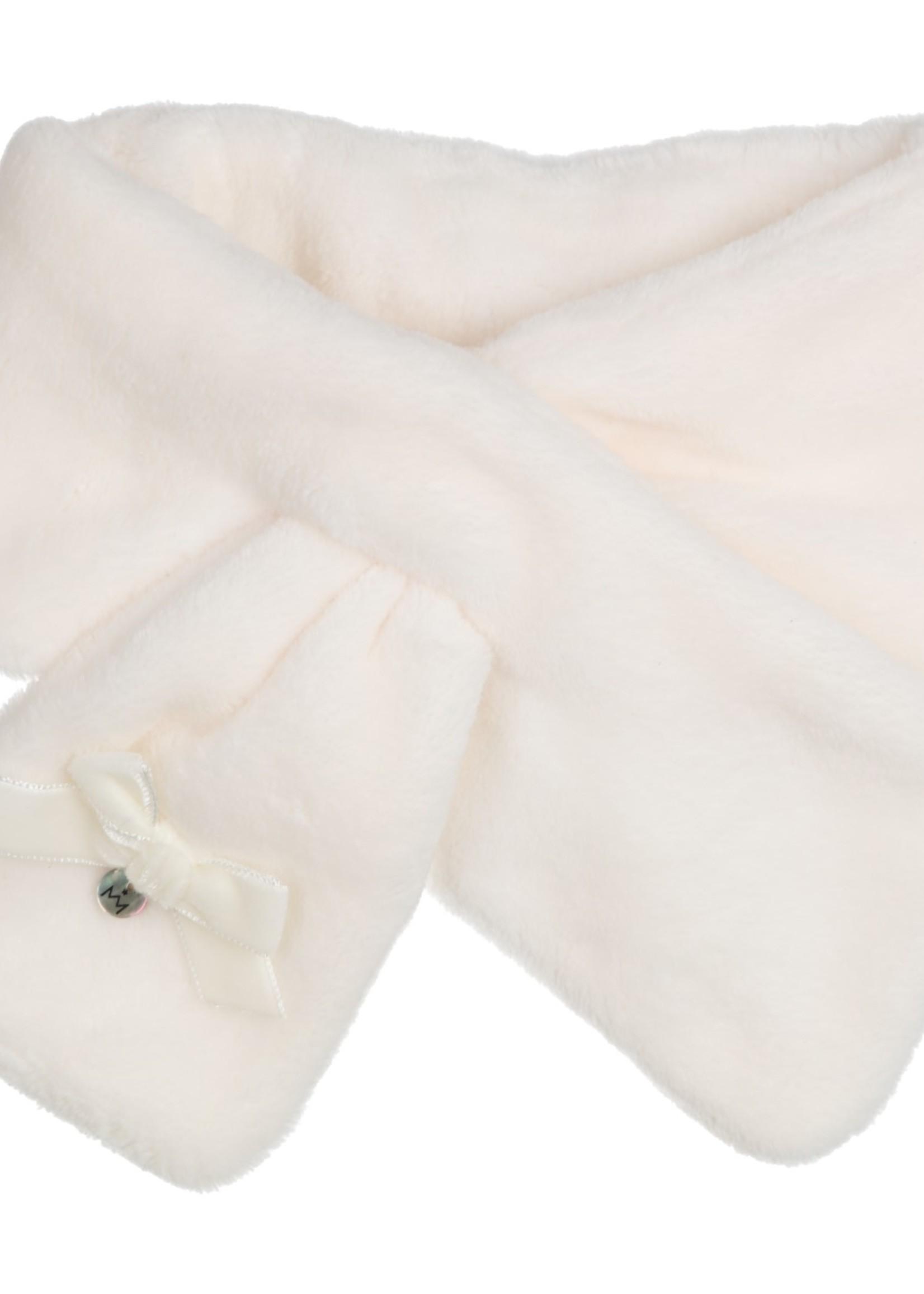 Gymp Gymp girls shawl TEDDY off white