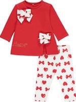 Little Adee Little Adee BRIANNA Bows& Hearts print legging set