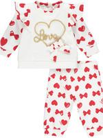 Little Adee Little Adee BAILEY Bows & Hearts print tracksuit