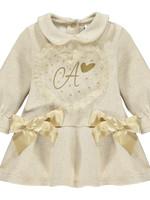 Little Adee Little Adee BLAIRE Tule heart sweat dress