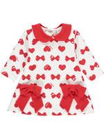 Little Adee Little Adee BIANCA Bows & Hearts print dress