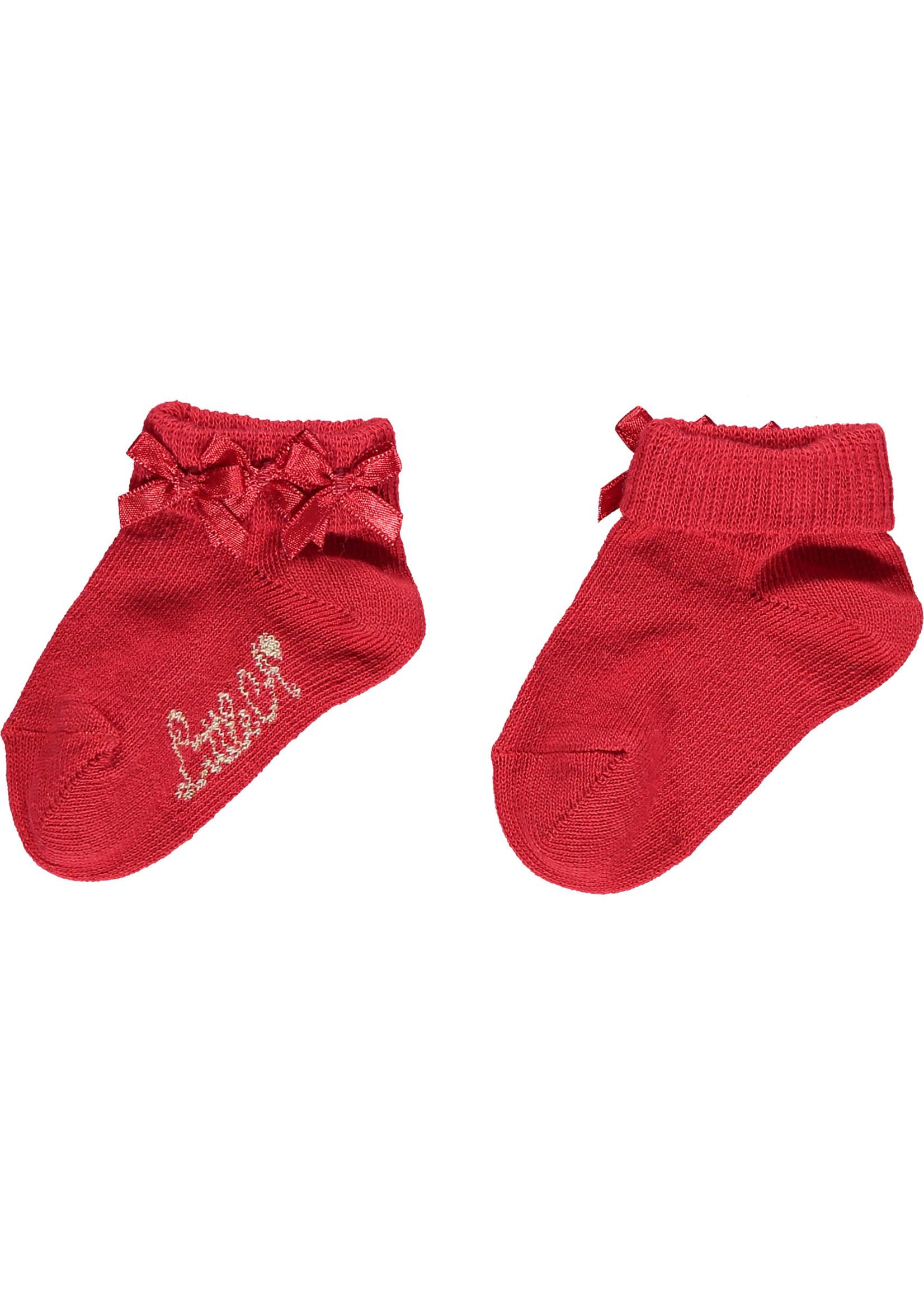 Little Adee Little Adee BRIDGET Frill ankle sock red