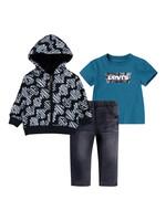 Levi's Levis hoodie tee pant set black