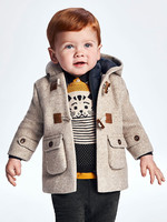 Mayoral Mayoral Duffel coat with hood for baby boy