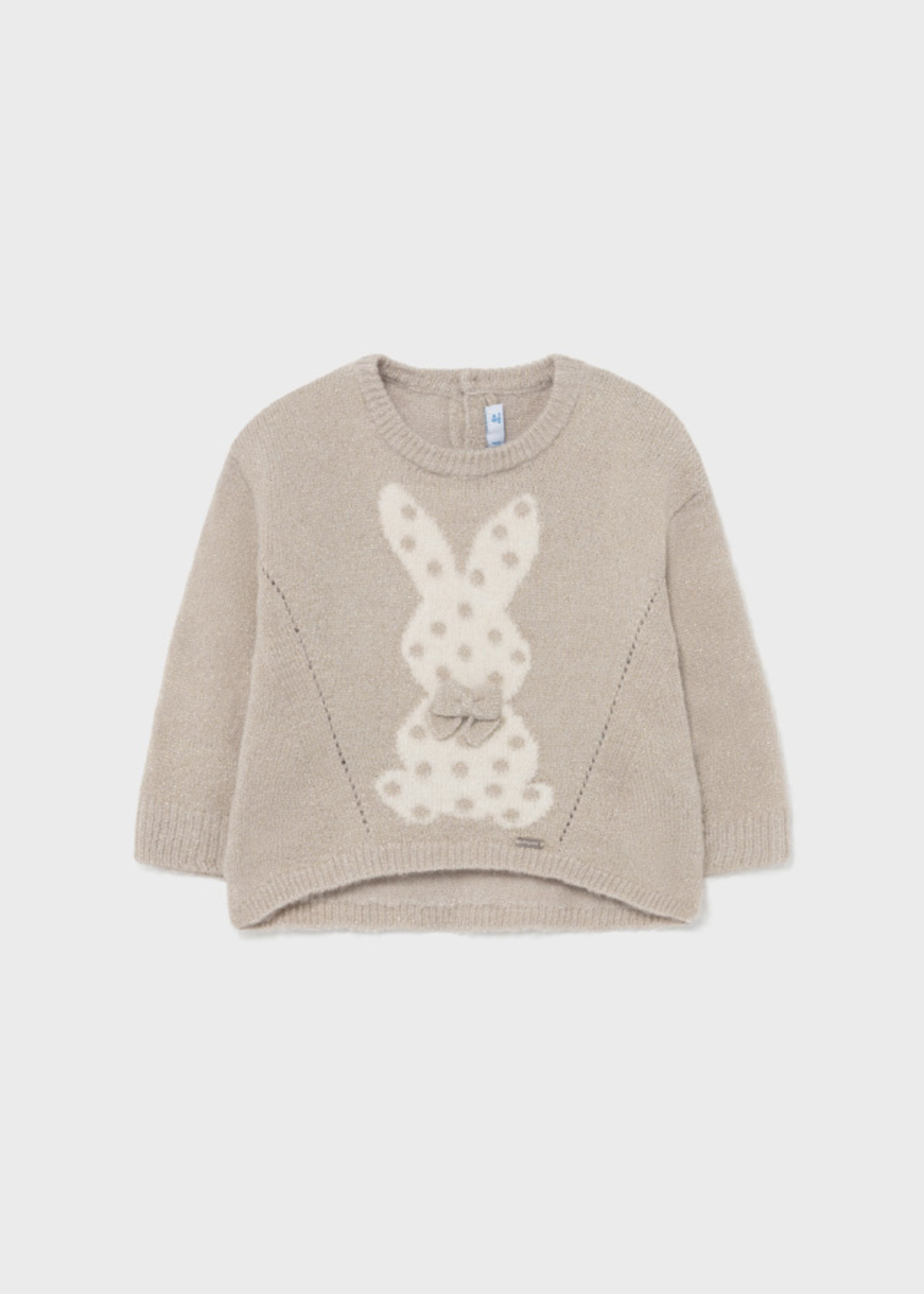 Mayoral Mayoral bunny sweater for baby girl cookie