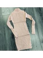 Divanis Divanis dress goude knoopjes pink
