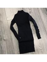 Divanis Divanis dress goude knoopjes black