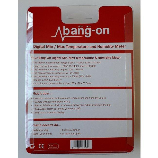 Bang-On Digital min/max Temperature & Humidity Meter
