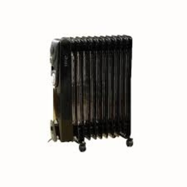 Gro Warm 11 Fin Oil Filled Radiator with Timer 2500W