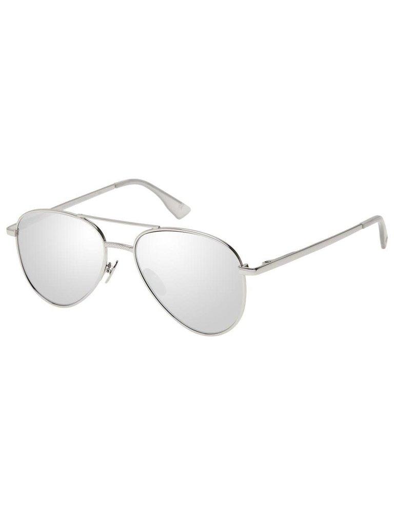 Le Specs Luxe Le Specs Luxe Imperium zonnebril platinum zilver
