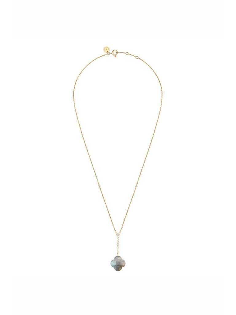 Morganne Bello Morganne Bello ketting met labradoriet hanger diamant