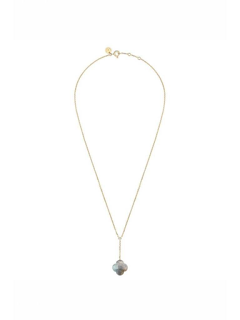 Morganne Bello Morganne Bello necklace with labradorite pendant diamond