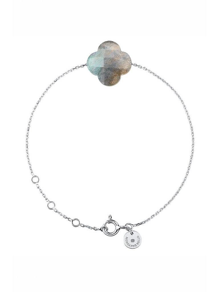 Morganne Bello Morganne Bello armband met labradoriet steen witgoud