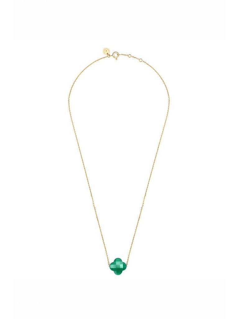 Morganne Bello Morganne Bello ketting met groene agaat steen