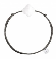 Morganne Bello Morganne Bello Schnurarmband mit white Agate