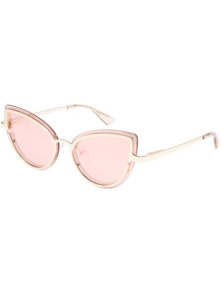 Le Specs Luxe Le Specs Luxe Adulation zonnebril roze goud