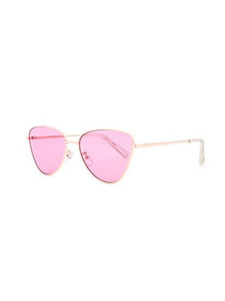 Le Specs Le Specs Echo zonnebril roze goud