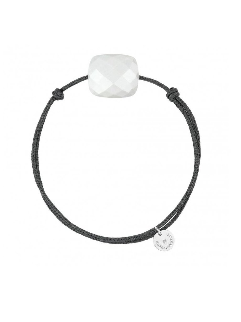 Morganne Bello Morganne Bello cord bracelet white Agate