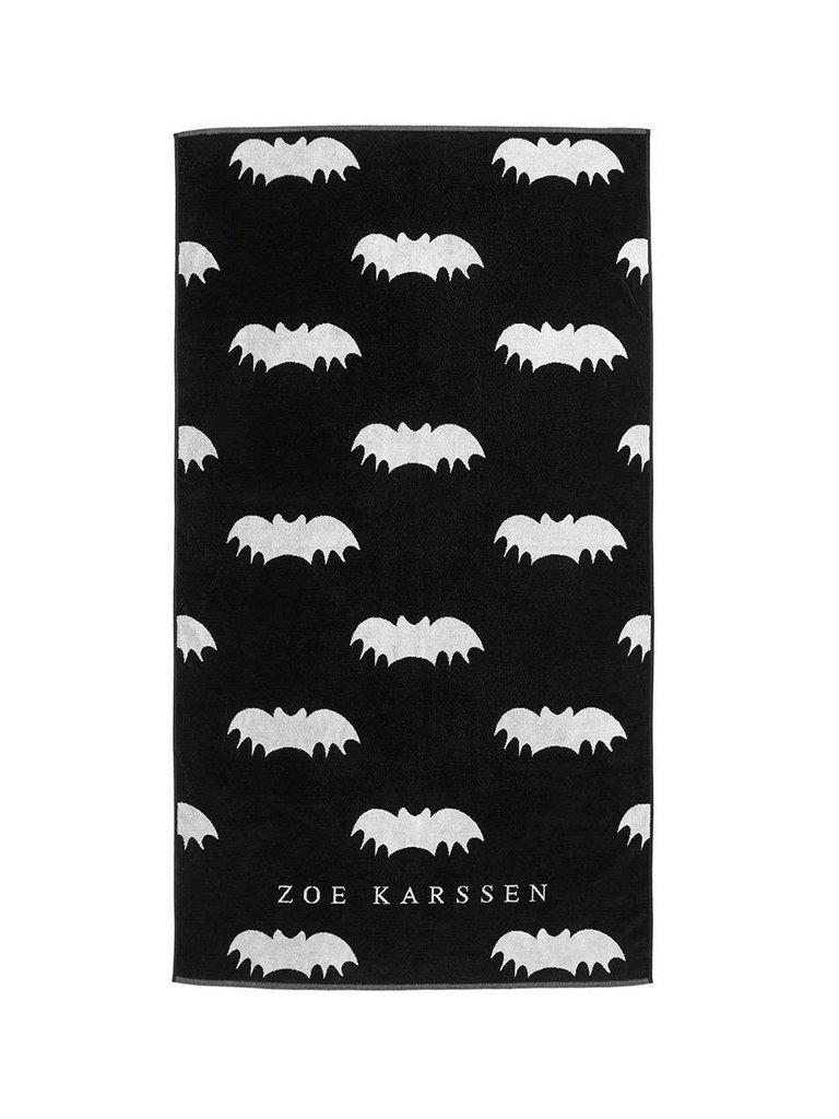Zoe Karssen Zoe Karssen Bats all over handdoek met opdruk zwart