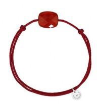 Morganne Bello Morganne Bello cord bracelet Cornaline stone red